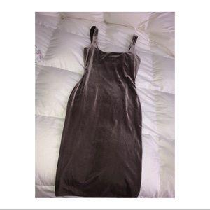 Meshki Velvet Bodycon Mini Dress